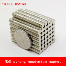 100PCS D5*3mm mini round N50 Strong magnetic force rare earth Neodymium magnet diameter 5X3MM