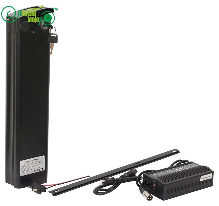 Batterie Li-ion 36 V 22AH Ebike pour cellule S22P avec boîtier en Aluminium mince BMS et chargeur rapide 5A