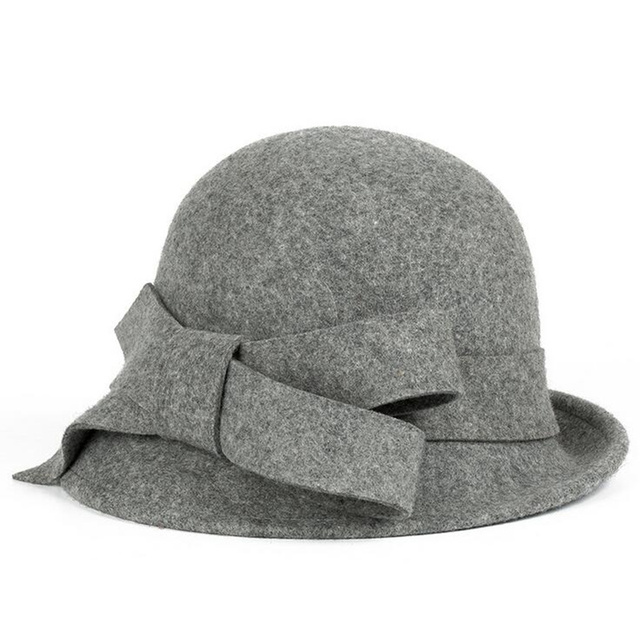 New100 % Lana Europa Inglaterra Otoño Fedora Caps Invierno de Las Mujeres  de La Vendimia Sombreros 4d48d868e64