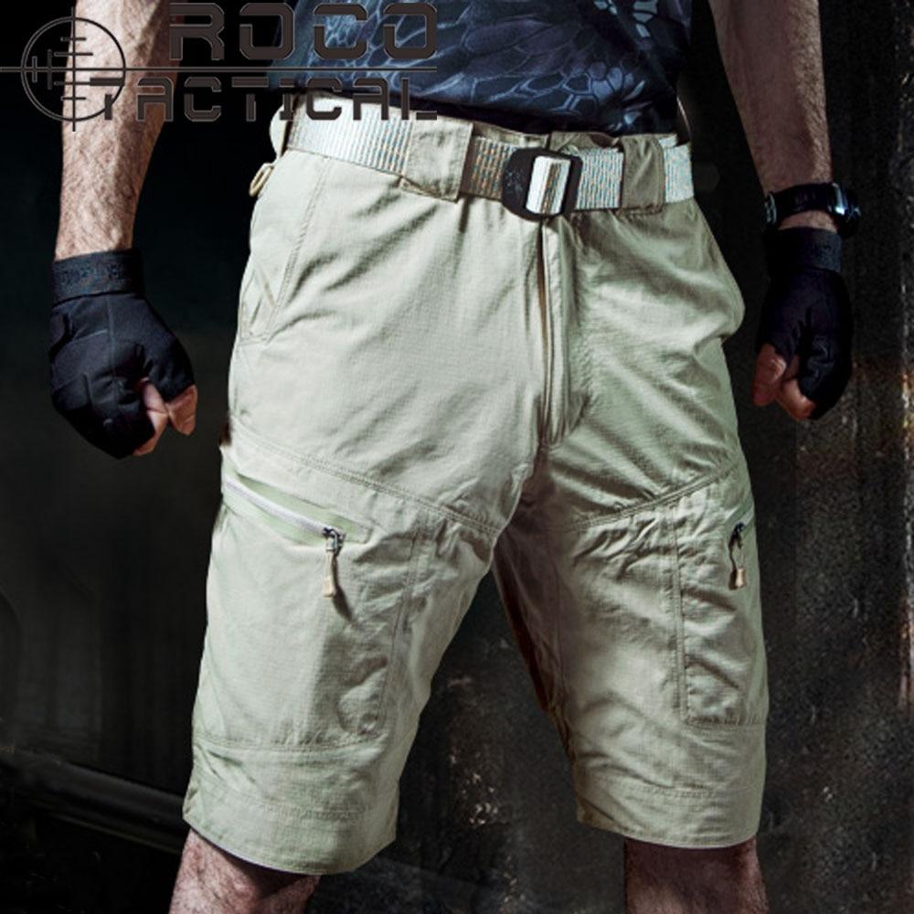 Mens Quick Drying Ripstop Hiking Shorts Fast Dry City Urban Military Zipper Cargo Shorts RIPSTOP Telfon Beach Shorts Army Green