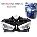 Kemimoto para Yamaha YZF r25 R3 yzf-r25 yzf-r3 2013 2014 2015 2016 2017 motocicleta Accesorios faro delantero faros vivienda