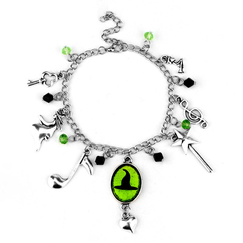 8b011b787924a US $2.5 |Hand Stamped Wicked Charm Bracelet Defy Gravity Elphaba Glinda  Crystal Beads Bracelets Bangles Wicked the Musical Bracelet-in Charm  Bracelets ...