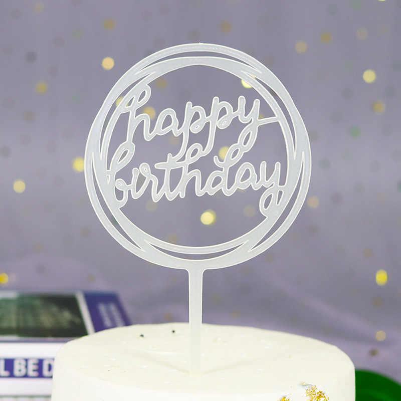 1 قطعة عيد ميلاد سعيد الاكريليك الحب كعكة توبر الديكور لعيد ميلاد كب كيك العلم حفلة عيد ميلاد الدعائم الزخرفية لوازم