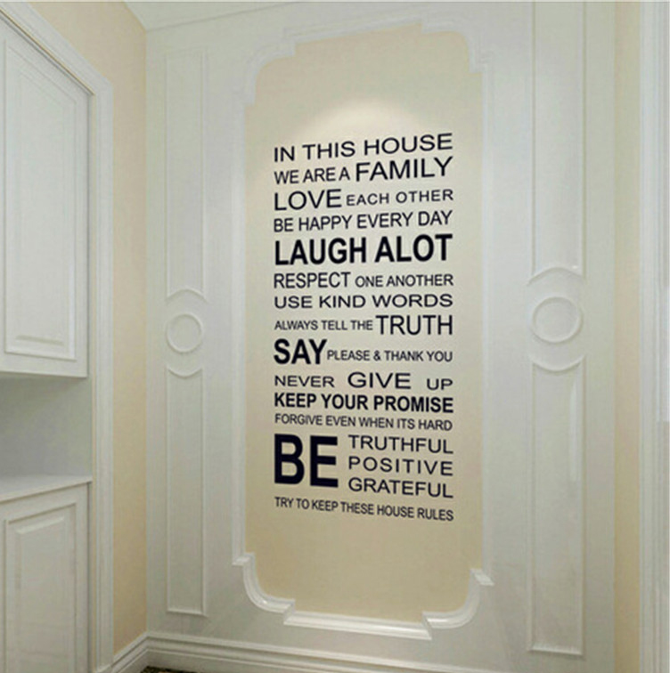 Living Room Sayings online buy wholesale family sayings wall decor from china family