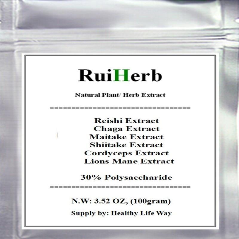 Top6 Mixed Mushroom Extract 30% Polysaccharide Chaga Reishi Cordyceps Maitake Shiitake Lions Mane Powder стоимость