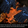 Extreme Heat & Cut Resistant Gloves w/ Super Long Forearm Protective Cuff for Baking Cooking Welding Grilling BBQ Oven glove