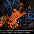 Calor extremo & Luvas Resistentes Ao Corte Luvas w/Super Longo Antebraço Manguito para o Cozimento Cozinhar Grelhar CHURRASCO Forno de Solda de Proteção luva