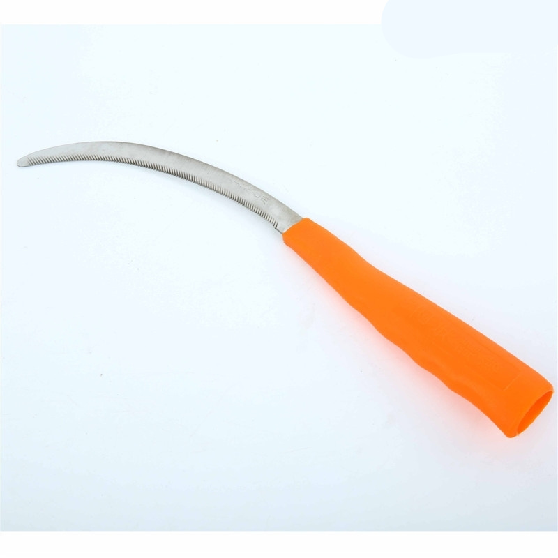 Lightweight Steel Small Saw Sickle Knife Plastic Handle Weed Remover Grass Sickle Sharp Garden Plants Weeder Cutter Tools