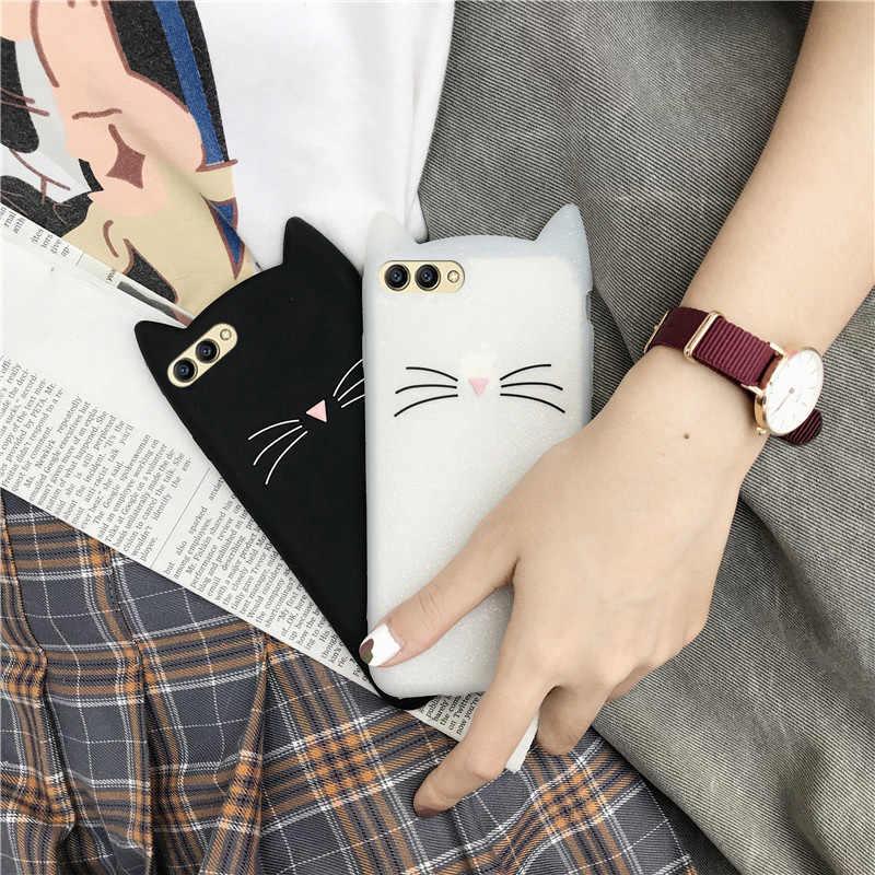 Huawei 社 P8 P9 P10 Lite P8 Lite 2017 P20 プラス猫シリコーンカバー P スマートノヴァ 2S メイト 10 20 Lite P30 プロケース