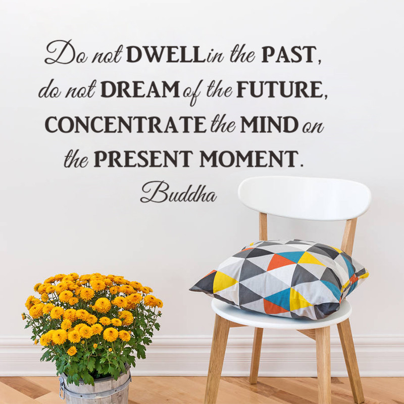 Do not Dream of the future inspirational quotes wall stickers decal Living room bedroom School decoration 8561 wall art Poster