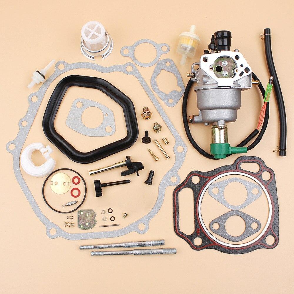 13hp Motor Motor Gasolina Gasolina Partes del generador Juego de Juntas de admisi/ón del carburador Fit Honda GX340 GX390 188F 190F 5KW 6.5KW 11