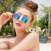 2016 Summer Women's Round Vintage Retro Sunglasses Women UV400 Brand Designer Mirror Womens Sun Sunglasses Oculos