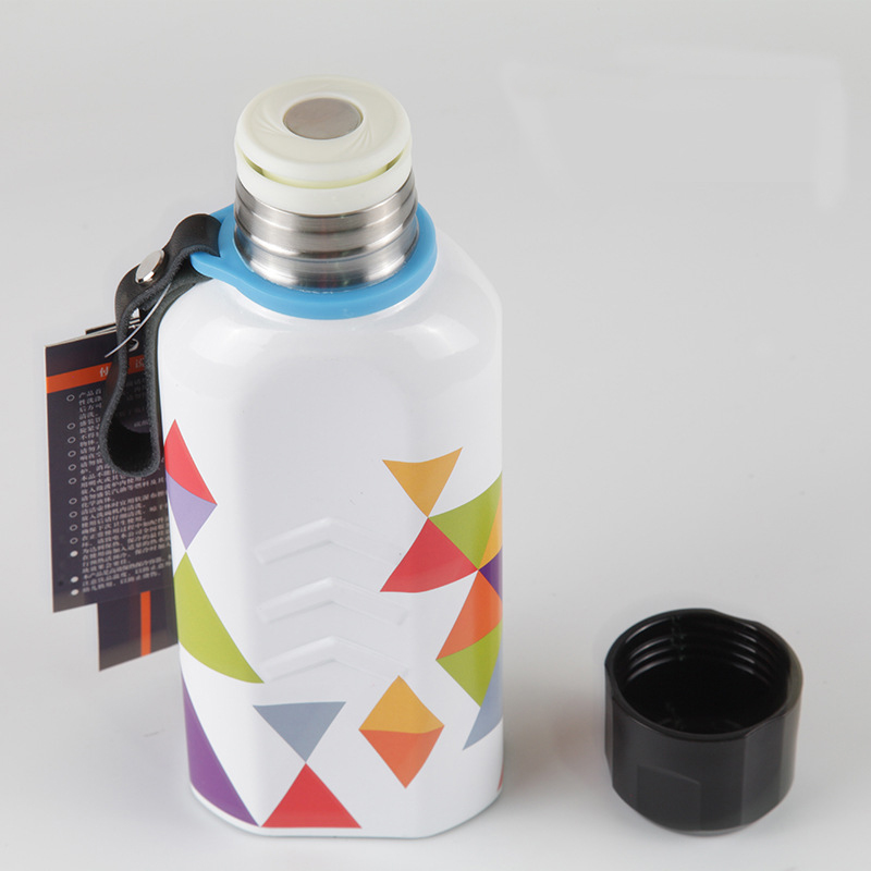 304 stainless steel vacuum flask 450ml portable sports bottle fashion outdoor flat pot