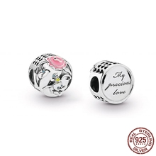 ba0a05054 spring 925 Sterling Silver beads Dumbo & Mrs Jumbo Charm Fit Original Pandora  bracelet for woman