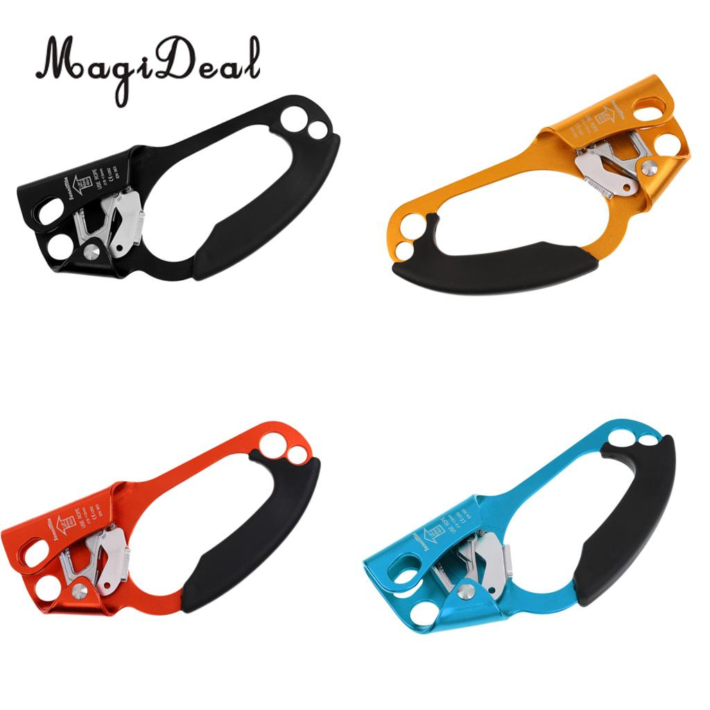 MagiDeal Professional Tree Rock Climbing Hand Ascender Riser 8-13mm Rope Clamp Equipment  for Rescue Caving Engineering Supplies salmon