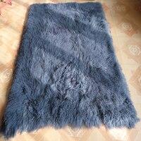 Серый монгольский мех покрывало домашний декор ковры и ковры для гостиной мех Carpe Тибетский Ягненок меховой ковер овчина одеяло s