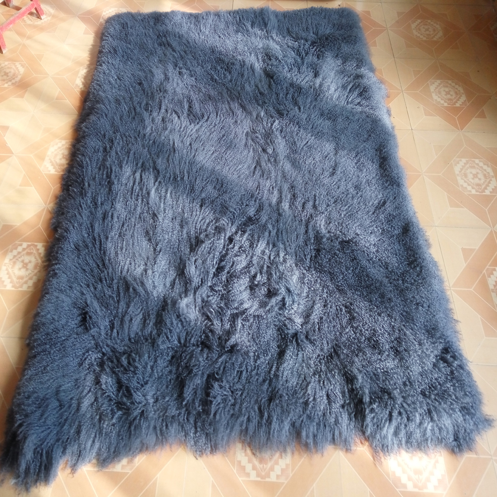 Us 507 99 Gray Mongolian Fur Blanket Home Decor Rugs And Carpets For Living Room Carpe Tibetan Lamb Rug Sheepskin Blankets In From