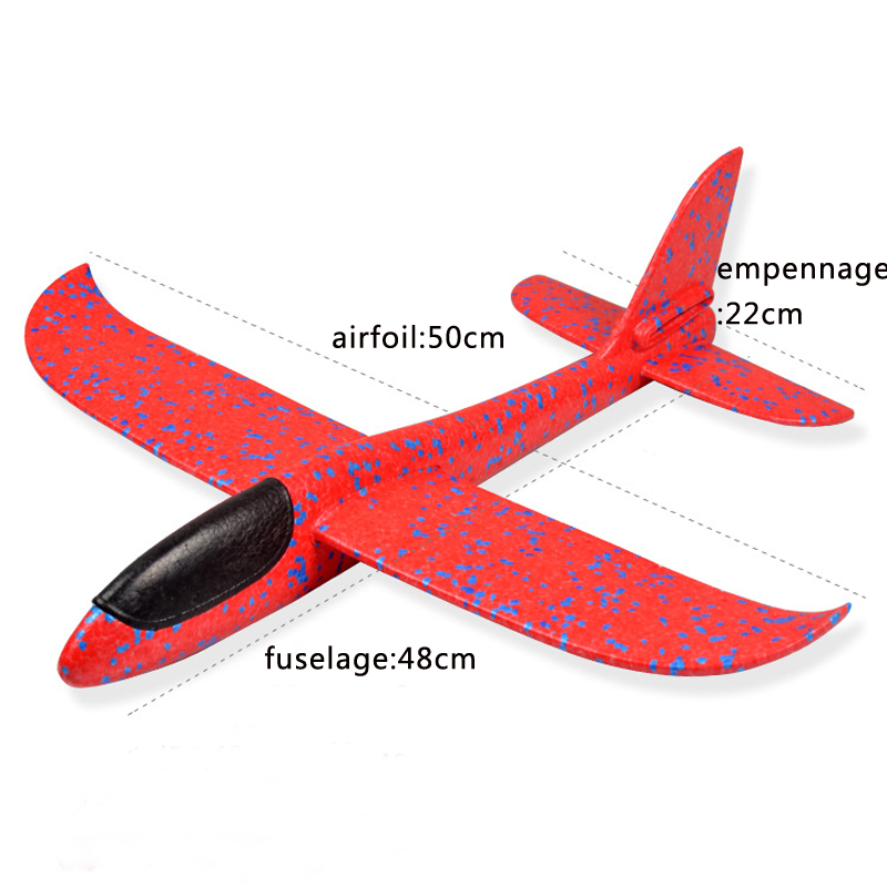 SAILEROAD Foam Aeroplane DIY Kids Toys Hand Throw Flying Glider Planes Model Party Bag Fillers Flying Glider Plane for Kids Game