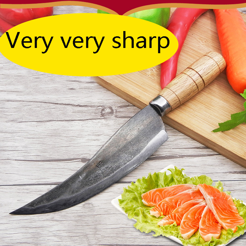 Free Shipping Kitchen Forged Cutting Knife Peeling Fish Knife Cleaver Vegetable Slicing Knife Eviscerate Bone Meat
