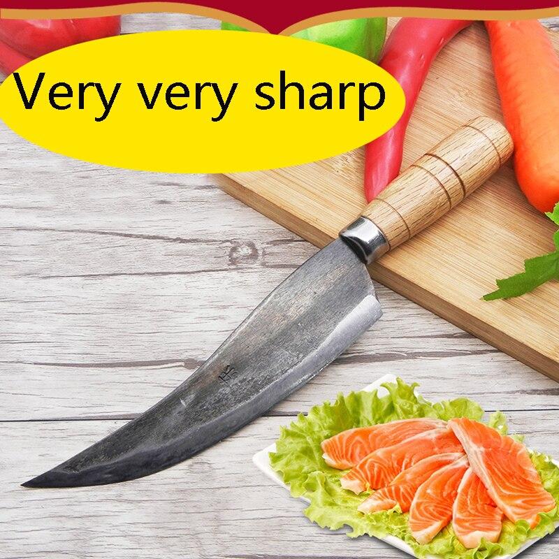 Darmowa wysyłka kuchnia kute do cięcia nóż obierania ryb tasak nóż kuchenny do krojenia warzyw nóż Eviscerate kości mięso nóż rzeźnicki w Noże kuchenne od Dom i ogród na  Grupa 1