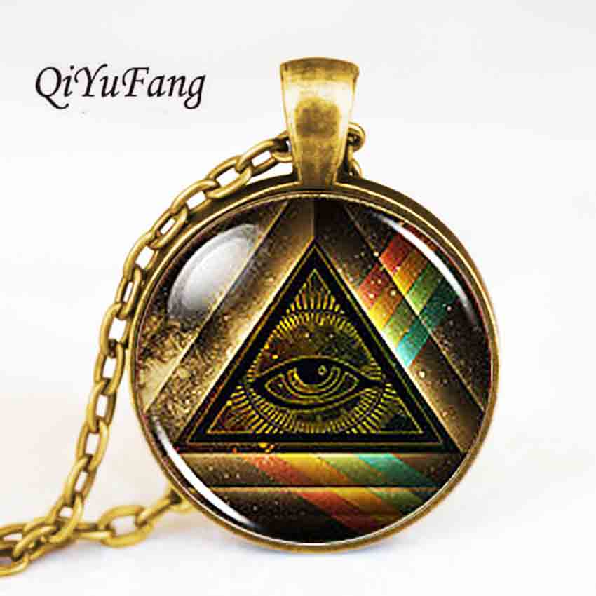 Steampunk Masonic free Mason Freemason Illuminati Pendant Satanism Necklace doctor who 1pcs/lot women mens vintage gift chain us