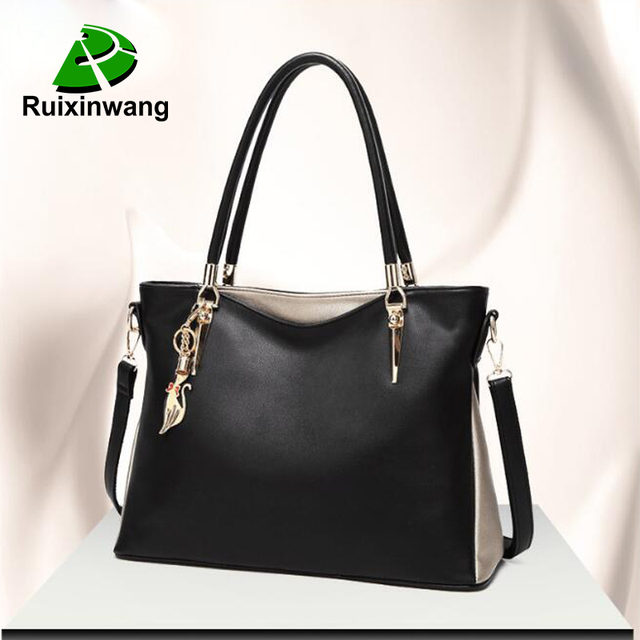 2018 New Autumn And Winter Women Bag Fashion Trend Handbags Large-Capacity  Large Bags Black ee5b0075b7