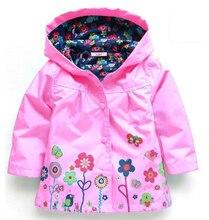 LZH Trench Coat For Girls Jacket Spring Flower Jackets For Girls Windbreaker Boys Kids Raincoat Outerwear Children Clothes