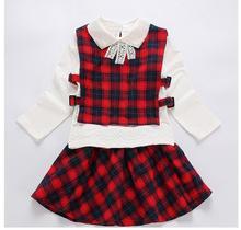Cotton Uniform Style Clothing Set For Girls