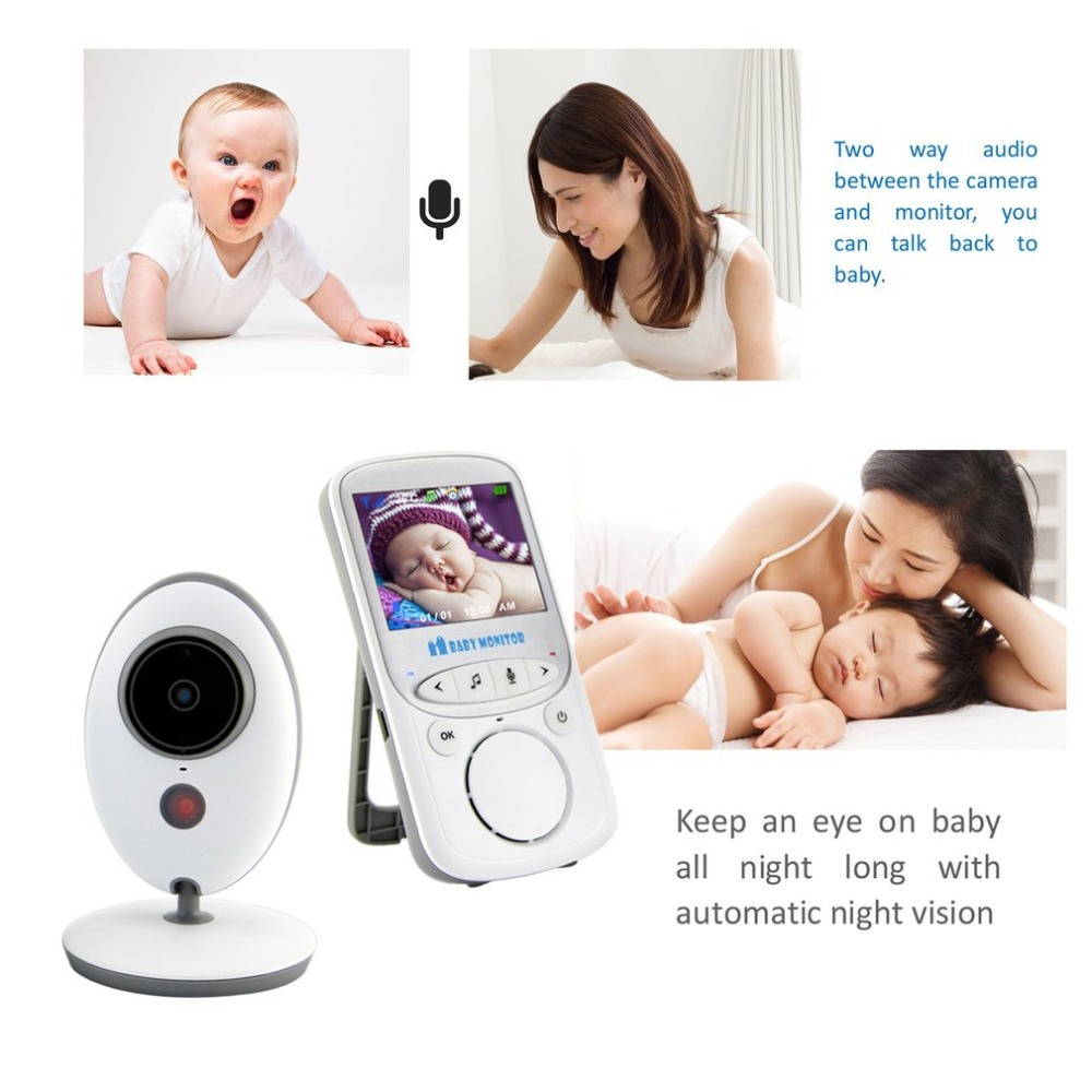 2.4 Inch Color LCD Wireless Digital Baby Monitor Support Two Way Talk Back&Temperature Monitoring VB605 Hot sales Drop shipping explosion models wireless digital baby monitor 7inch lcd baby monitoring color lcd multi linguge