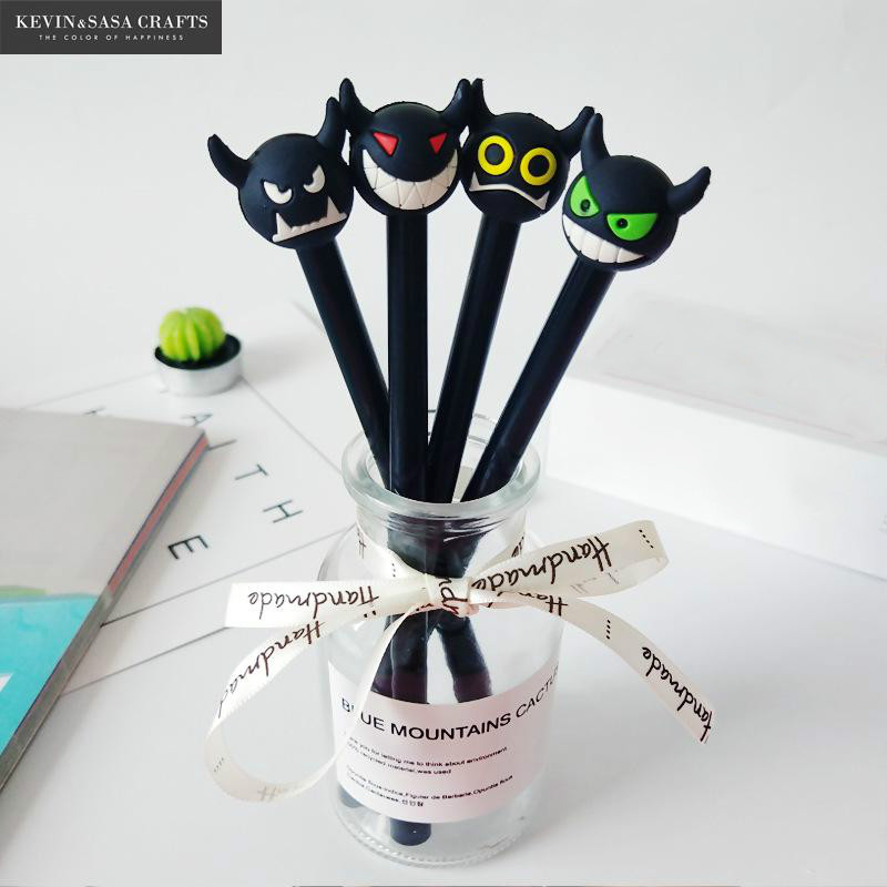 4Pcs/Set Gel Pen Halloween Pen Stationery Kawaii School Supplies Gel Ink Pen School Stationery Office Suppliers Pen Kids Gifts