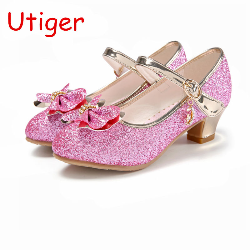 Children Girls PU Leather Shoes For Kids High Heel Shoes Party Dance Children Sandals Girls Wedding Shoes  Spring Autumn tote bags for work
