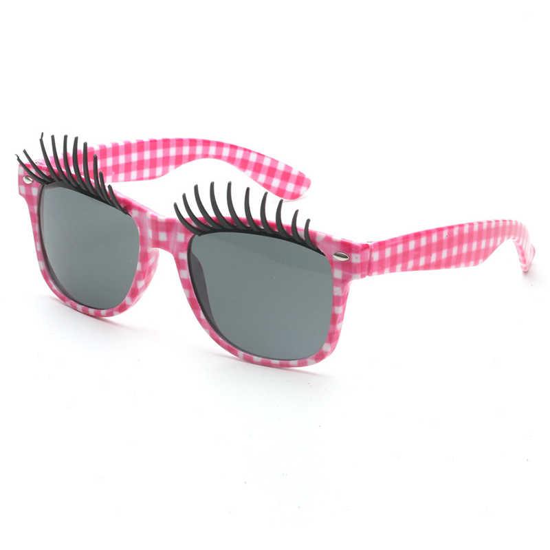 9afc082961e ... Novel False Eyelashes Glasses Funny Women Sunglasses Masquerade  Photography Prop Toy Party Spectacles Cartoon Eyewear UV400 ...