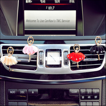 ANZULWANG 2017 Ballerina Colorful Car Air Outlet Perfume Artificial Crystal Interior Air Freshener Car Air Outlet Perfume