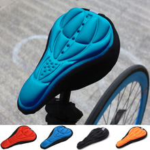 цена на Bicycle saddle set 3D soft bicycle thickening comfortable cushion gel pad cushion cover bicycle bike accessories