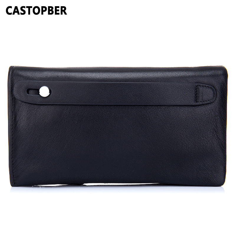 Genuine Leather Man Long Wallet Men Day Clutch Leather Business Bag High Capacity 2017 New Designer High Quality Famous Brand men genuine leather wallet 2016 dollar price luxury famous designer high quality money clip men wallet