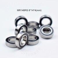 MR148RS 8*14*4(mm) 10 parça ücretsiz kargo rulman ABEC 5 kauçuk mühürlü minyatür Mini rulman MR148 krom çelik rulmanlar|bearing rubber|bearing bearingbearings miniature -