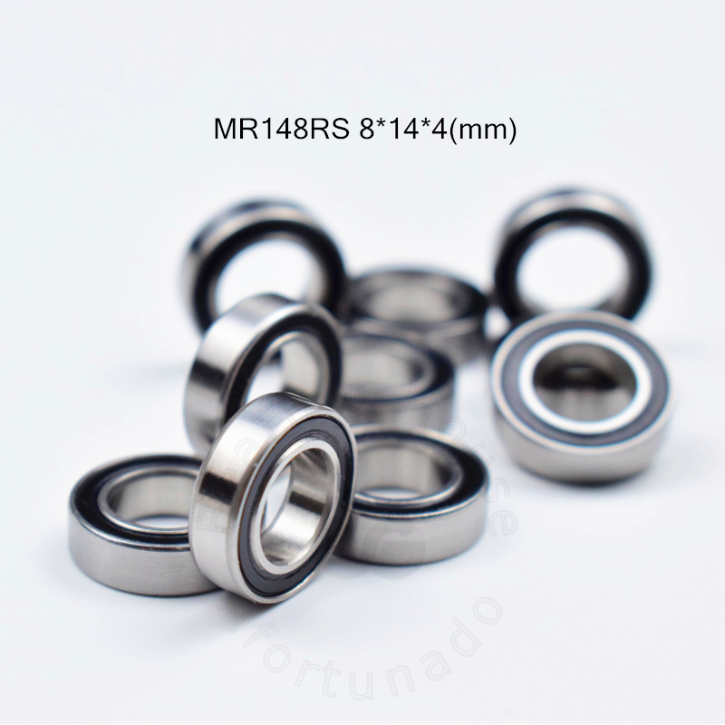 MR148RS 8*14*4(mm) 10pieces Free Shipping Bearing ABEC-5 Rubber Sealed Miniature Mini Bearing MR148  Chrome Steel Bearings