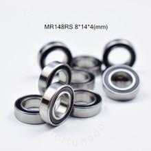 цена на MR148RS bearing 8*14*4(MM) ABEC-5 bearing rubber Sealed Miniature Mini Bearing MR148 MR148RS chrome steel bearings