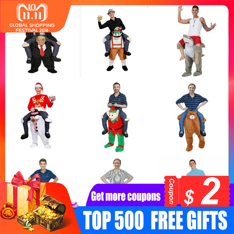 Funny Cosplay Donald trump Pants Halloween Party Costumes Horse Ride On Clothes Carry Back Novelty Mascot Outdoor Toys dongzhur new funny donald trump rider costume inflatable costumes for adults women men halloween carnaval party cosplay awe3686