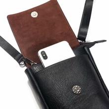 Bolsa universal para telefones, bolsa de ombro pequena viagem para samsung iphone xiaomi huawei