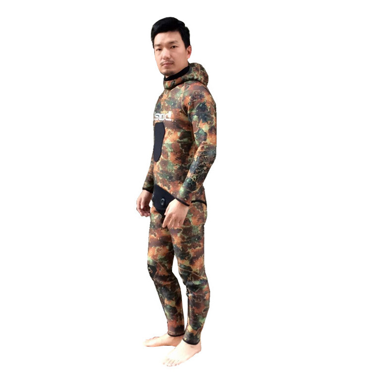 5MM Men Neoprene Wetsuit Diving Winter Swimming Surfing Windsurfing Snorkelling Full Body SwimSuit Spearfishing Triathlon Suit