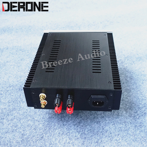 Image 2 - power amplifier case shell amp chassis aluminum with konb RCA binding post feet audio  diy box