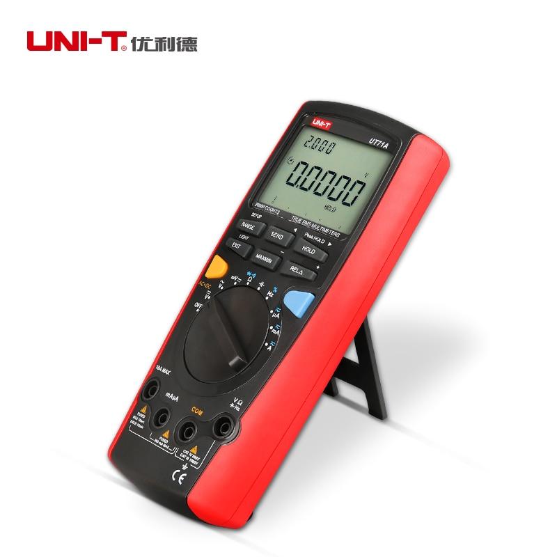 Uni-t UT71A Intelligent LCD Digital portatil profissional REL AC + USB tensao de corrente DC RMS verdadeiro Auto мультиметр uni t uni trend uni t ut203 rel dc ac 400a uni ut203 400a