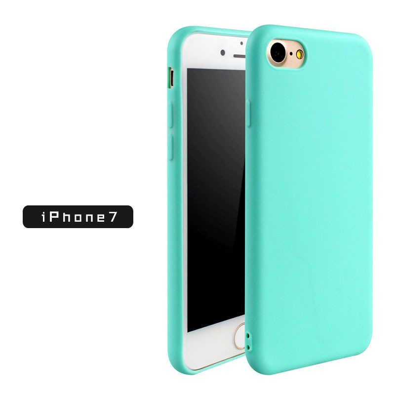 Силиконовый чехол для телефона для iPhone 8 7 6 плюс 5 SE Чехол Прочный цветной, мягкий, из ТПУ чехол для iPhone 6 7 плюс крышка полная защита