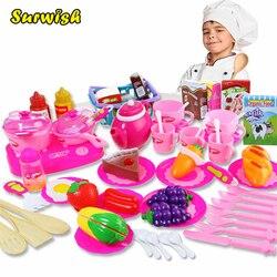 54 Pcs Corte De Plástico de Frutas Legumes Cozinha Cozinha de Brinquedo Brinquedo Desenvolvimento Precoce e Educação para As Crianças Como Presente de Natal