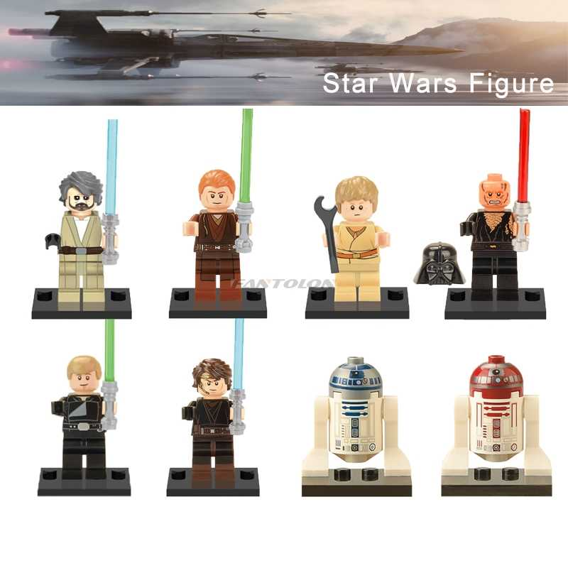 Star Wars Figuur R2D2 Oude Luke Kind Anakin Skywalker Jedi Knight Sith Warrior R4P17 Starwars Bouwstenen Speelgoed