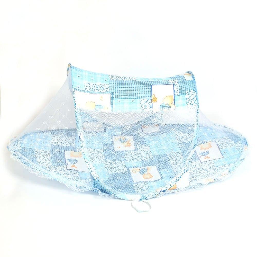 Складной Дети младенческой ребенок Сафти москитная сетка кроватки кровать манеж играть палатка синий ...