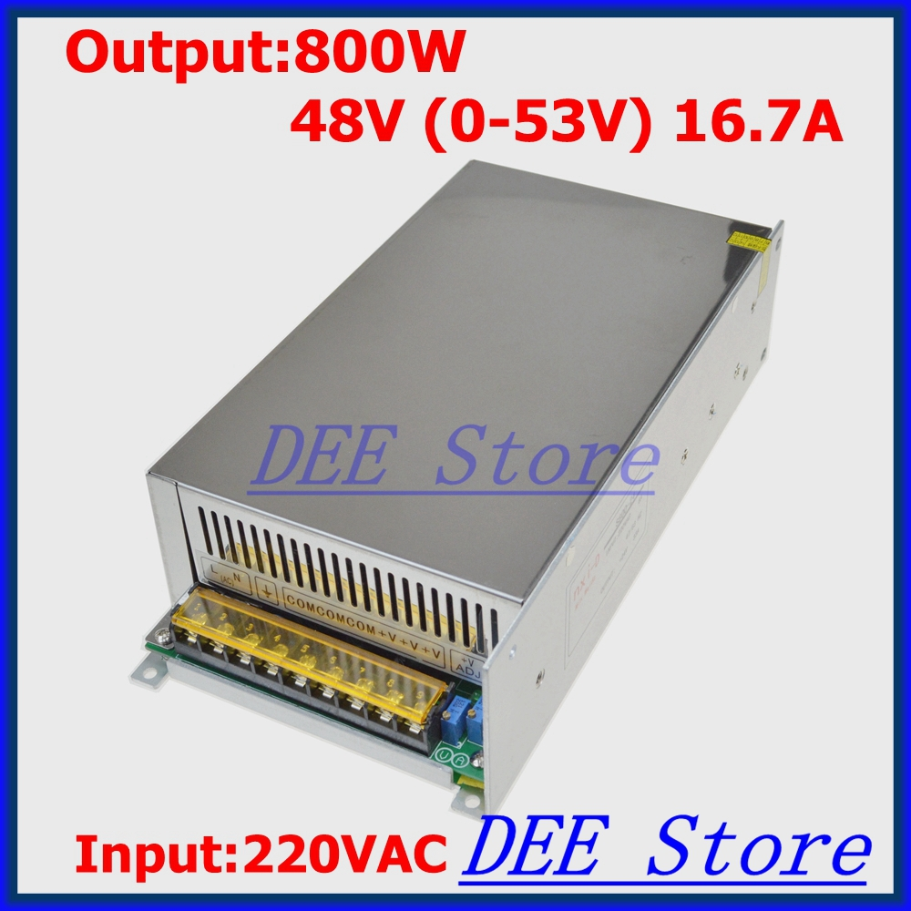 Led driver 800W 48V(0-53V) 16.7A Output Transformer Adjustable ac 220v to dc 48v Switching power supply unit for LED Strip light led driver ac input 220v to dc 1800w 0 110v 16 4a adjustable output switching power supply transformer for led strip light