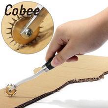 Cobee колесо кожа швейный инструмент дырокол кожа бумага оверстежка колесо шестерни Проставка Ремесло Удар нержавеющая сталь резка бумаги