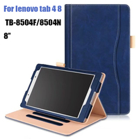 Stand Pu Leather Cover Case For Lenovo Tab 4 8 Inch Tablet TB 8504 TB 8504F